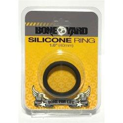 """Boneyard Silicone Ring - 1.6"""" (40 mm) - Black Sex Toy"""