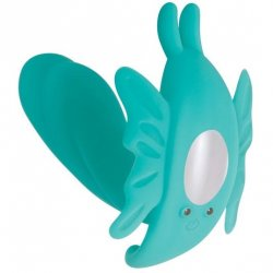 Evolved The Butterfly Effect Rechargeable Dual Stim - Teal Sex Toy