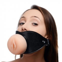 Master Series: Pussy Face Mouth Gag Sex Toy