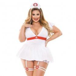 Fantasy Lingerie: Curve Bedside Nurse 3 Piece Set - 3XL/4XL Sex Toy