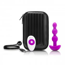 B Vibe Remote Triplet Anal Beads - Fuchsia Sex Toy