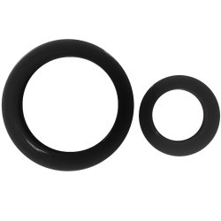 James Deen Signature Cock Rings - Black Sex Toy