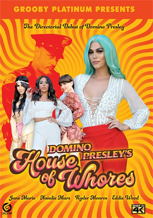 Domino Presley's House Of Whores transsexual porn video from Grooby.