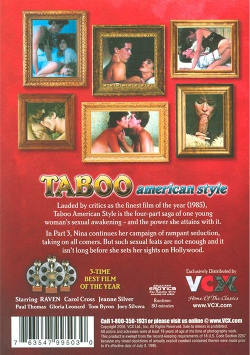 Back cover of Taboo American Style 3: A Mini-Series