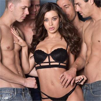 Porn star Lana Rhoades stars in Gangbang Me 3.